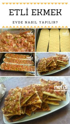 Meaty Bread at Home – Yummy Recipes - Fleisch Yummy Recipes, Bread Recipes, Yummy Food, Chocolate Chip Cheesecake Bars, Keto Chocolate Chips, Turkish Recipes, Ethnic Recipes, Meat Appetizers, Pizza