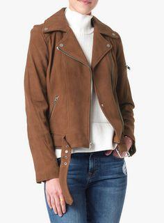 Suede Moto Jacket $548