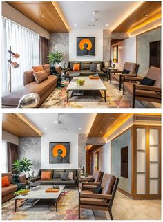 Inherently Sophisticated House Design -Strong yet Classic Living Room Designs India, Living Room Tv Unit Designs, Ceiling Design Living Room, Indian Living Rooms, My Living Room, Drawing Room Interior Design, Home Room Design, Home Interior Design, House Design