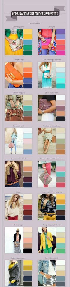 I like some of these color tones (: Cada chica debe conocer estas reglas. Look Fashion, Fashion Outfits, Womens Fashion, Fashion Tips, Fashion Clothes, Dress Fashion, Trendy Fashion, Fashion Casual, Style Clothes