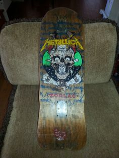 "1989 Zorlac ""Pushead"" Metallica Skateboard Deck"