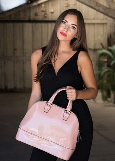 Cotton Candy Medium-size Tote Convertible Bag in Nude Pink Candy
