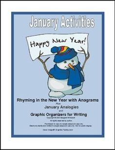 """FREE LANGUAGE ARTS LESSON - """"January Rhymes and Analogies with Writing"""" - Go to The Best of Teacher Entrepreneurs for this and hundreds of free lessons. 6th - 9th Grade  http://www.thebestofteacherentrepreneurs.org/2016/12/free-language-arts-lesson-january.html"""