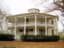 Jacksonville, IL. Octagon house. Built by Rufus C. Crampton, an Illinois College professor. http://www.octagon.bobanna.com/main_page.html