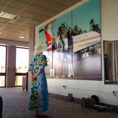 Jill in her Hawaiian attire!