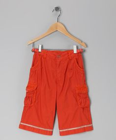 Take a look at this Popsicle Orange Crop Cargo Pants by Da-Nang on #zulily today!