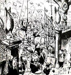 Ronald Searle's original dark, weird and hilarious St Trinian's comics - Boing Boing