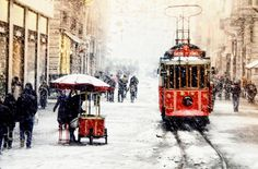 Wall decor Red Tram photography winter istanbul by gonulk on Etsy, $50.00 #tram #redtram #photography #photograph #photo #homedecor #wallart #decor #walldecor #print #red #snow #winter #housewarming #gift #giftidea #officedecor #urban #istanbul #city #cityscape #street #artprint #art #etsy #sale