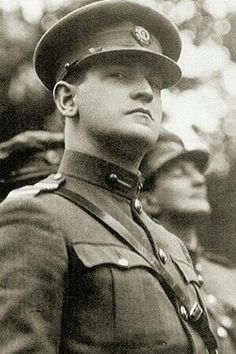 "Michael Collins Director of Intelligence during the Irish war of Independence in charge of an elaborate spy network and a group assassins called ""the squad"". He was one of the most wanted men by the British Empire. Ireland Pictures, Images Of Ireland, Michael Collins, Julius Evola, Irish Independence, Irish Language, Irish Eyes, Manx, World War I"