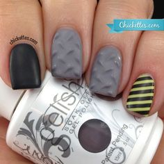 This is SO cool!! 3D Textured Diamond Plate Nails made with gel polish