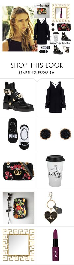 """Grunge style"" by ira-malakhova ❤ liked on Polyvore featuring Balenciaga, ADAM, IRO, Humble Chic, Gucci, Vivienne Westwood, Safavieh, NYX and summerbooties"