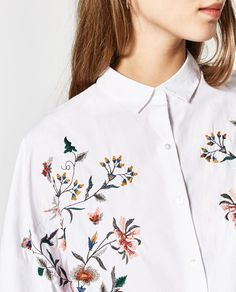 Image 6 of OVERSIZED FLORAL SHIRT from Zara