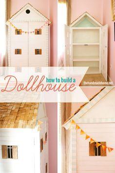 How to build a doll house #dollhouse #diy #kidstoy