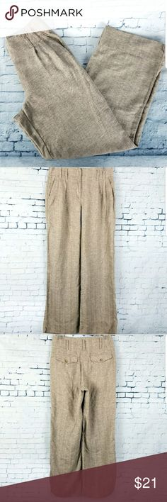 """J Jill Genuine Fit Linen Blend Casual Pants SZ 6 J.Jill Women's Pants Genuine Fit Linen Blend Size 6 Khaki/Sand Lightweight Sheer See pictures for details.  Please know your measurements before purchasing.  Approximate Measurements are done flat and unstretched. Waist 13.5"""" Rise 11"""" Inseam 30.5"""" Opening 11"""" Thigh 12"""" Color may be slightly different in person due to my lighting. J. Jill Pants"""