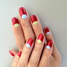 Trending now: Reverse French.  Get it in red!    This unique look originally from MarsTheSalonLA!