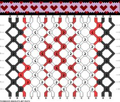 Friendship bracelet pattern - hearts