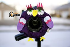 Shutter Buddies Pet Paul Purple OWL with SQUEAKER camera lens prop- Ready to ship. $20.00, via Etsy.