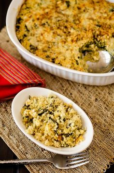 Spinach Artichoke Quinoa Casserole - Cooking Quinoa (vegan options)