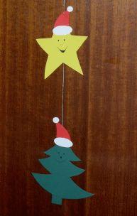 Türdekoration für Weihnachten basteln