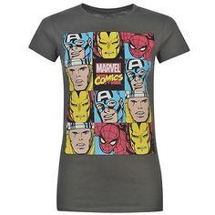 Ladies Official Marvel Comics Avengers Ironman Thor Spiderman T Shirt Top #marvelforwomen #marvel #marvelshirt