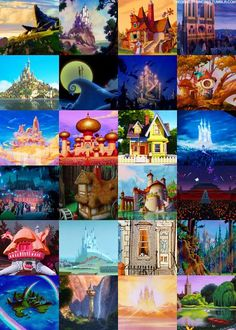 Disney homes, only true Disney kids will know which home goes to who