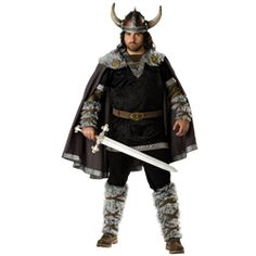 Viking Warrior Men's Costume (Plus Sizes) - IN-5027 by Medieval Collectibles