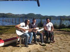Atleta paralímpico Luis Carlos Cardoso com Frank Aguiar durante entrevista à TV Record, em São Bernardo do Campo. #Rio2016