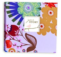 GIRL Modern Baby Memory Book (Whimsy Pink Design, Bloom Cover 9.25 x 9.5) on Etsy, $65.00