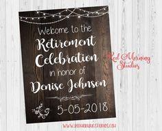 Retirement Celebration Welcome Sign. Retirement party welcome poster. retirement decorations. retiree. retirement ideas
