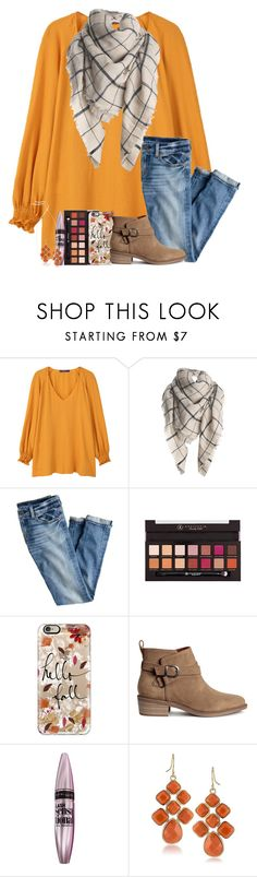 """i can't help falling for you my dear"" by legitmaddywill ❤ liked on Polyvore featuring Violeta by Mango, J.Crew, Anastasia Beverly Hills, Casetify, H&M, Maybelline, 1st & Gorgeous by Carolee and Kendra Scott"