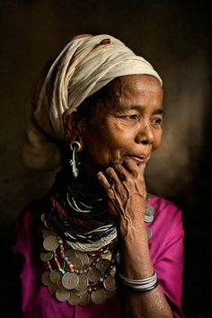 India | Portrait of a woman from the Reang Tribe in the remote North East State of Tripura | © Mitchell Kanashkevich