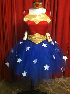 from peterandvalinda - Photobucket >>>GORGEOUS, girly Wonder Woman costume for a little girl! :D