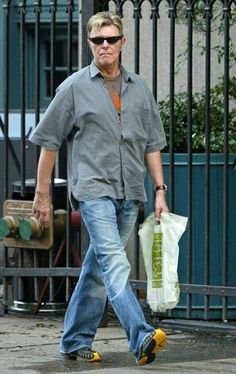David Bowie - NYC June 2013.  He and his wife and daughter live there (not London???) now...