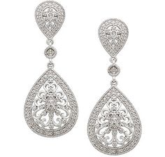 This pair of diamond vintage micro pave set drop sterling silver earrings from the Kohinoor Diamond Collection perfectly exemplifies the luxurious jewellery that queens and princesses have worn throughout the centuries. Vintage Diamond, Luxury Jewelry, Princesses, Sterling Silver Earrings, Holiday Gifts, Queens, Valentines Day, Drop Earrings, Gift Ideas