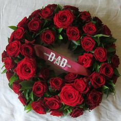red rose wreath | The Flower Shop, Bushey, Funeral Tributes - Red Rose Wreath