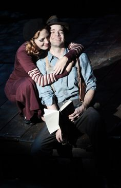 Bonnie & Clyde <---- In which Cinderella and Jack Kelly from an unlikely duo to commit a series of crimes. Jk, this show is seriously great, I almost cried Bonnie And Clyde Musical, Bonnie And Clyde Photos, Bonnie Clyde, Musical Theatre Broadway, Broadway Plays, Musicals Broadway, Laura Osnes, Jack Kelly, Bonnie Parker