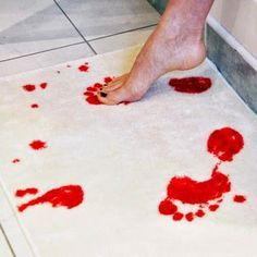 Bloody Awesome Shower Mat That Bleeds When Stepped On