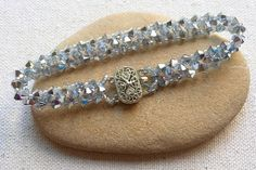 Sparkly Right Angle Weave (RAW) Crystal Tennis Bracelet Pattern