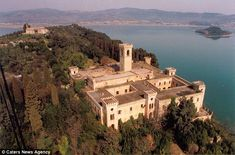 The stunning estate is located on Lake Trasimeno, in Italy's Umbria region,