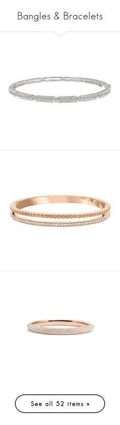 """""""Bangles & Bracelets"""" by iamamnabaig ❤ liked on Polyvore featuring jewelry, bracelets, rhodium, stackers jewelry, nadri jewelry, hinged bracelet, bracelets bangle, crystal jewelry, rose gold and beaded bangles"""