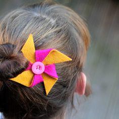 tutorial: pinwheel hair clip