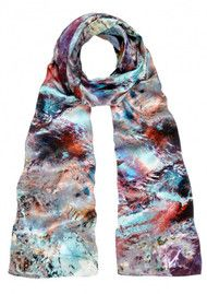 Weston Scarves Glass Fluorite Silk Scarf - Multi
