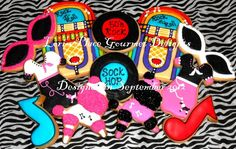 Sock Hop Cookies  12 Cookies by lorisplace on Etsy, $36.99