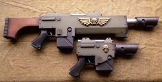 Warhammer 40K Lasgun and pistol by Matsucorp on DeviantArt