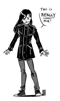 Skulduggery Pleasant — tanu-the-avocado: Stephanie when she gets her. Skulduggery Pleasant, Comic Manga, Novels, Art Styles, Magick, Books, Nerd, Batman, Fandoms