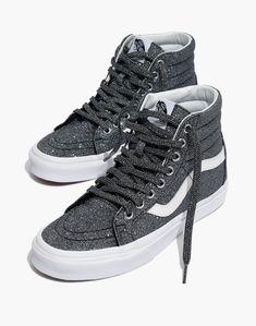 828aa7c3a2f2 Madewell Vans Unisex SK8-Hi Reissue High-Top Sneakers in Black Glitter  Glitter Vans