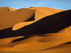 Sahara Sand Dunes  Photograph by Thomas J. Abercrombie, National Geographic