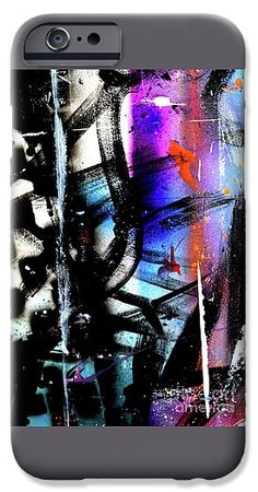 Wild IPhone 6s Case featuring the painting Dark Dreams by Expressionistart studio Priscilla Batzell