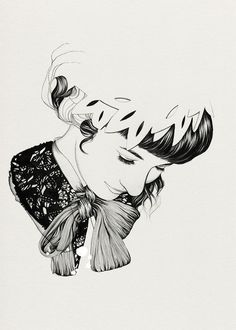 Dave Nestler, pinup art, sketch, asian girl, rising sun