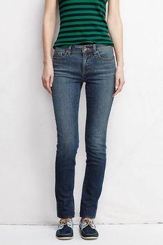 dee10b96bd8c6 Women s Mid Rise Slim Leg Jeans from Lands  End Slim Legs
